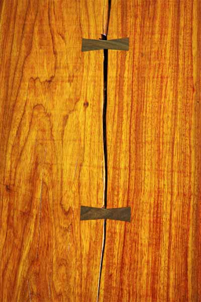 Claro Walnut Table Top Detail